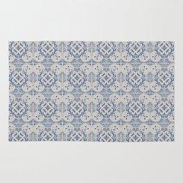 Vintage blue tiles pattern Rug