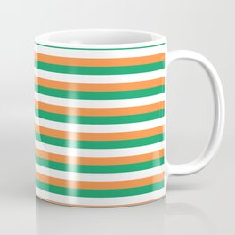 Irish Tricolour Horizontal Stripes Green Orange and White Irish Flag Coffee Mug