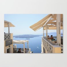 Idyllic afternoon in Fira Canvas Print