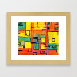 Cities Squares and colors by Jana Sigüenza Framed Art Print