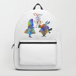 Down The Rabbit Hole Colorful Watercolor Art Backpack