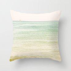 Nautical Red Sailboat Throw Pillow