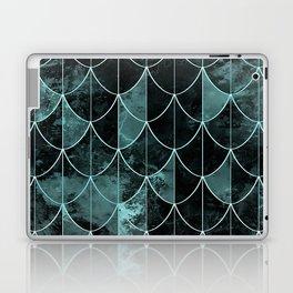 Mermaid scales. Mint and black. Laptop & iPad Skin
