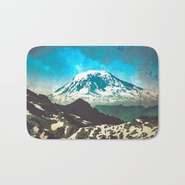 Mt Adams from Mt Rainier Washington State - Nature Photography Bath Mat