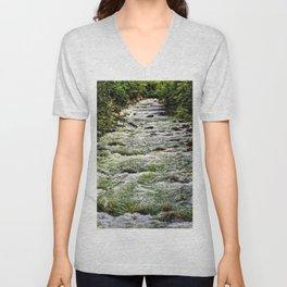 Cascading Mountain Stream Unisex V-Neck