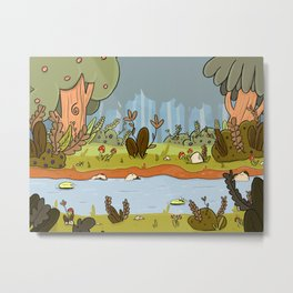 The calm of the river Metal Print