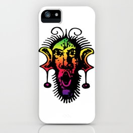 Color Spectrum Fierce Primal Tribal Mask, Wild Mask, Super Smooth Super Sharp 13500px x10125px PNG iPhone Case
