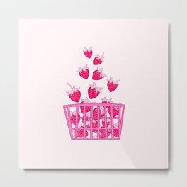 Strawberry Basket Metal Print