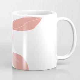 One line plant drawing - Berry Pink Coffee Mug