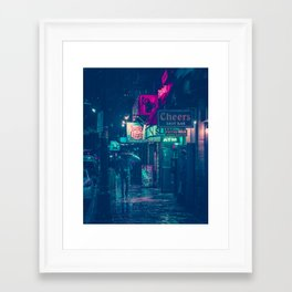 6th Street during Hurricane Harvey Framed Art Print