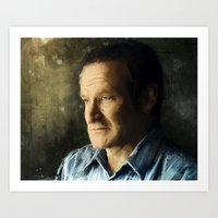 robin williams Art Prints featuring Tribute Robin Williams by Kevin Chapdelaine