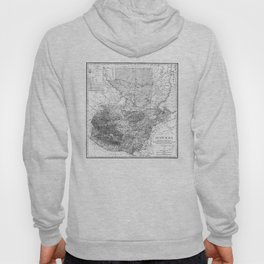 Vintage Map of Guatemala (1902) BW Hoody