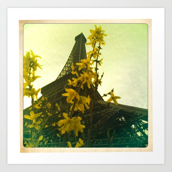 The Eiffel Flower Art Print