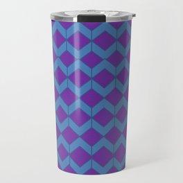 Purple Blue Moroccan Tile Pattern Travel Mug