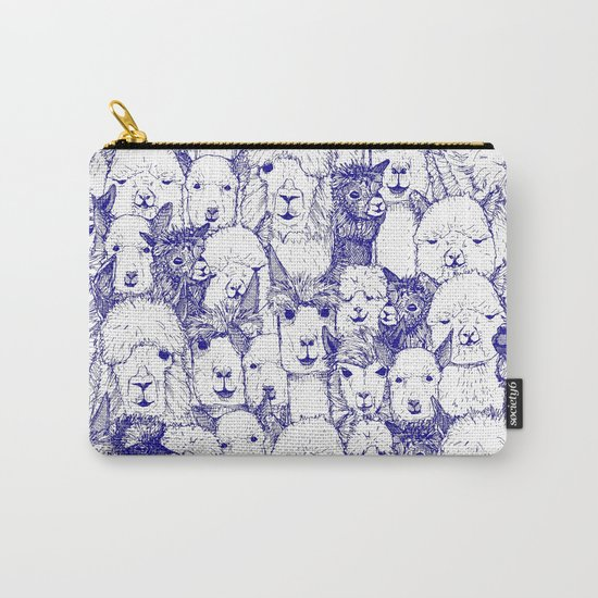 just alpacas blue white Carry-All Pouch