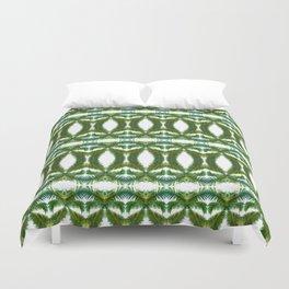 Palm Leaf Kaleidoscope (on white) #2 Duvet Cover