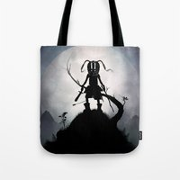 skyrim Tote Bags featuring Skyrim Kid by Andy Fairhurst Art