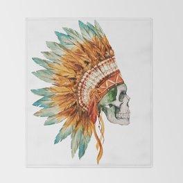 Skull 03 Throw Blanket