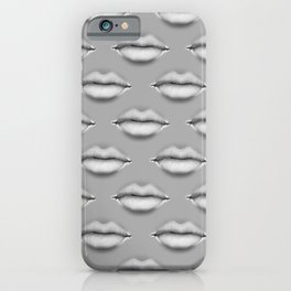 POUTY LIPS // Realistic Lips Design Pattern iPhone Case
