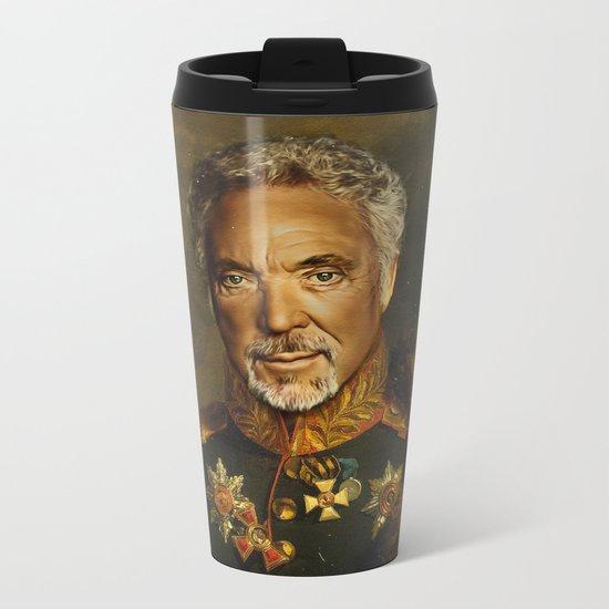 Sir Tom Jones - replaceface Metal Travel Mug