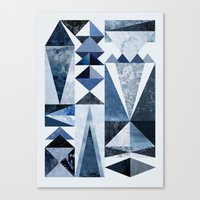 Canvas Prints featuring Blue Shapes by Mareike Böhmer