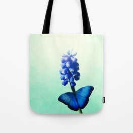 Blue bells on wings Tote Bag