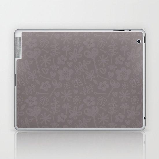 Mocha Doodles Laptop & iPad Skin