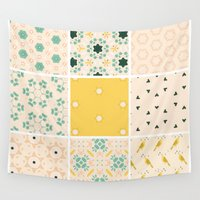 quilt Wall Tapestries featuring Grandma's Quilt by 83 Oranges™