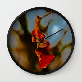 The last leaf standing... Wall Clock
