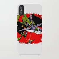 kaiju iPhone & iPod Cases featuring Kaiju Attack by sasha alexandre keen
