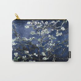 Vincent Van Gogh Almond Blossoms Dark Blue Carry-All Pouch