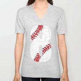 Baseball Eight Team Ball Brittle Old Gift Unisex V-Neck