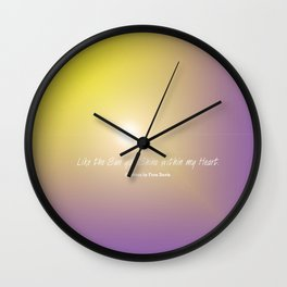 Like the Sun you Shine within my Heart verse Wall Clock