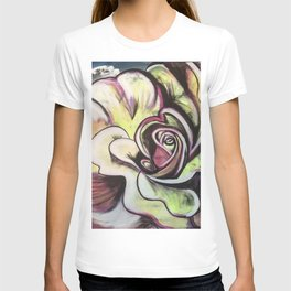 Abstract Colour Flower T-shirt
