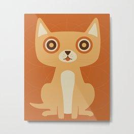 Cat Print Metal Print