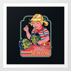 You Can Learn Sewing Art Print
