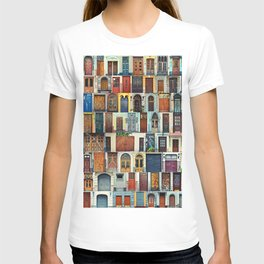 Collage of Kiev front doors,Ukraine T-shirt
