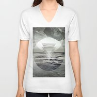 inception V-neck T-shirts featuring Inception Landscape by monicamarcov