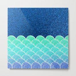 Ocean Waves At Night Metal Print