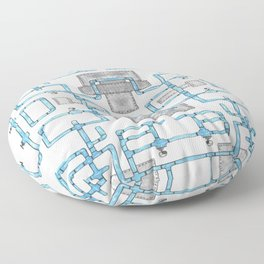 Pipe mania Floor Pillow