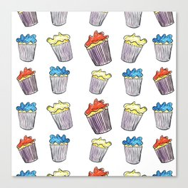 Sweet Tooth Cupcake Pattern Canvas Print