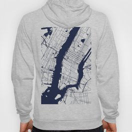 New York City White on Navy Hoody
