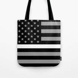 EMS: Black Flag & Thin White Line Tote Bag