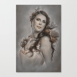 FanArt / Speedpainting of Sharon den Adel (Within Temptation) Canvas Print
