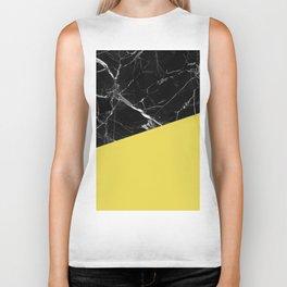 Black Marble and Meadowlark Yellow Color Biker Tank