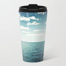 "Ocean Sky Photography, Sea Horizon Photographs, Blue Calming Seasape Print, ""The Spell of the Sea"" Travel Mug"