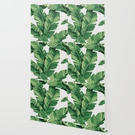 Tropical banana leaves Wallpaper