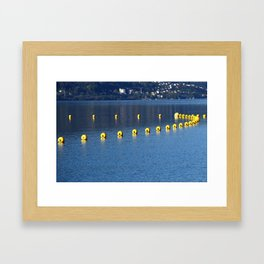 safety barriers with buoy chain Framed Art Print