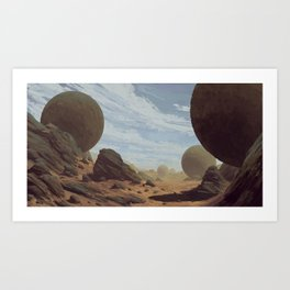Rocky Desert Art Print