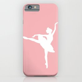 Pink and white Ballerina iPhone Case